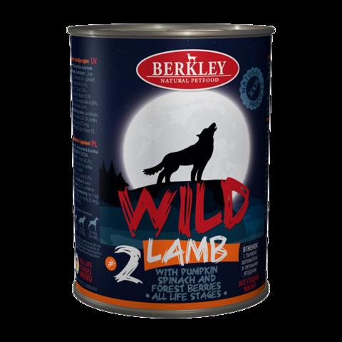 Berkley № 2 Консервы для собак ягненком, тыквой, шпинатом и лесными ягодами (Банка)