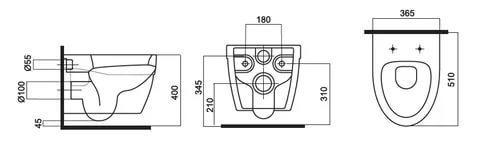 Унитаз подвесной AM-PM Bliss L (крышка-сиденье с микролифтом)