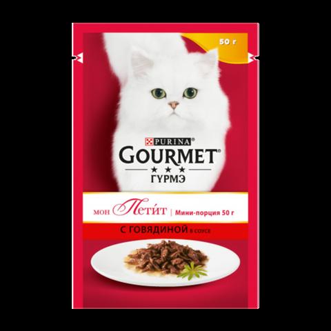 Gourmet Mon Petit Консервы для кошек с Говядиной (Пауч)