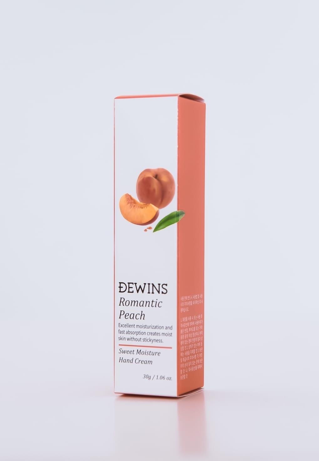 Крем для рук с экстрактом персика, DEWINS Romantic Peach Hand Cream
