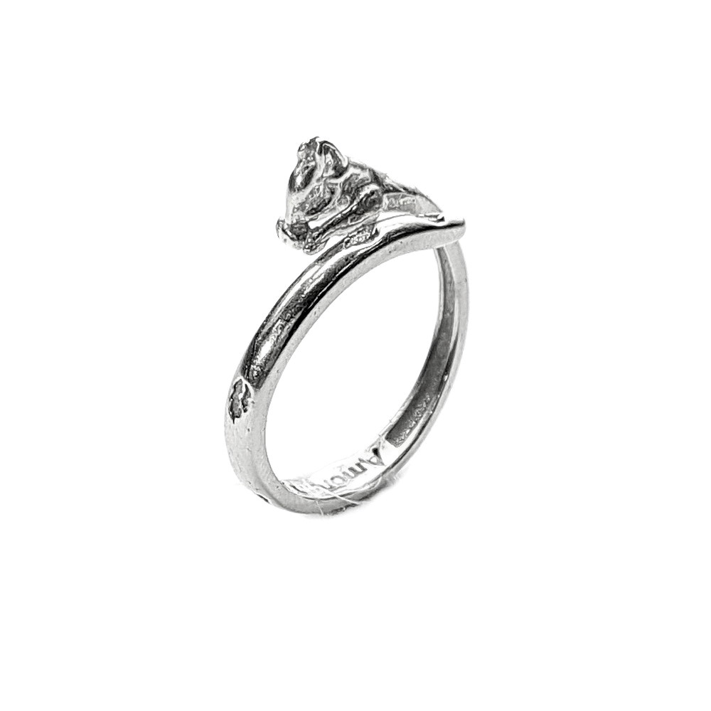 Squirrel ring, Sterling Silver