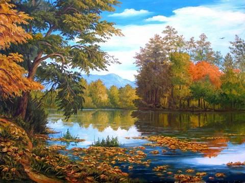 Алмазная Мозаика 20x30 Природа готовится к наступлению осени
