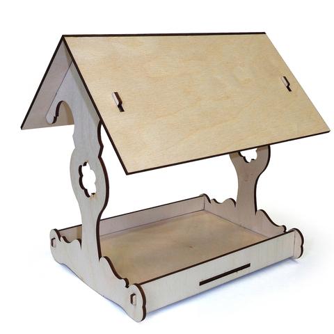 Кормушка для птиц сборная, собирается без клея, 19х20х16см, набор для детского творчества