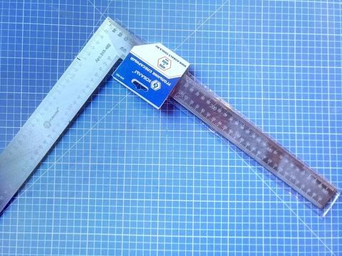 Угольник КОБАЛЬТ слесарный 400 х 600 мм, нерж.сталь