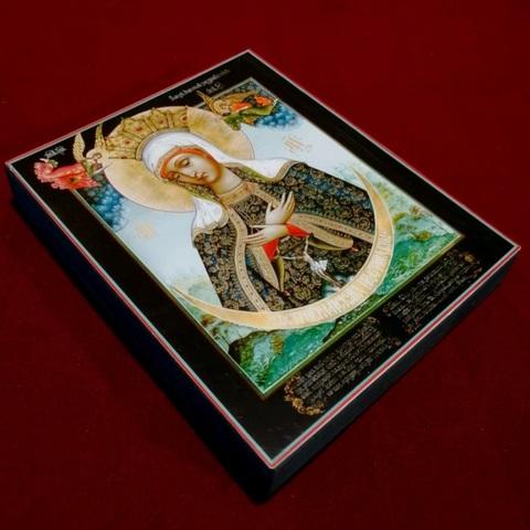 Икона Божией Матери Остробрамская на дереве на левкасе мастерская Иконный Дом