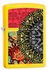 Зажигалка Zippo Classic с покрытием Lemon, латунь/сталь, жёлтая, матовая, 36x12x56 мм
