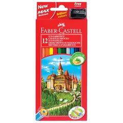 Набор цветных карандашей Faber-Castell 12 шт + точилка