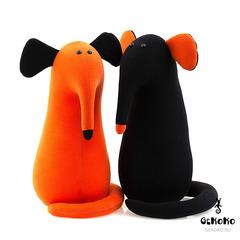Подушка-игрушка антистресс Gekoko «Крыс повелитель Кис», рыжий 4