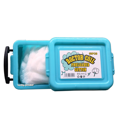 Вата Doctor Coil Preloaded Coil Cotton 50 шт