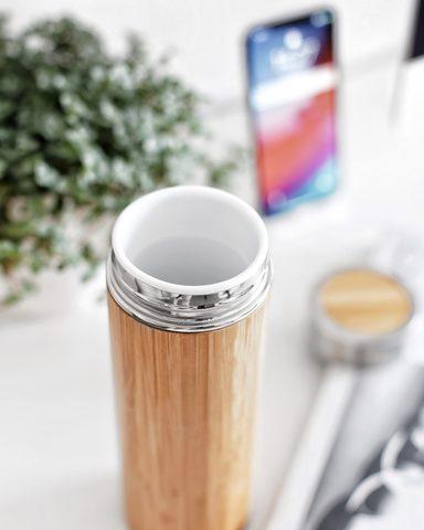 Бамбуковый керамический термос Bamby