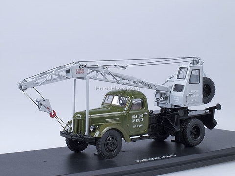 ZIL-164 Truck Crane LAZ-690 khaki-gray Start Scale Models (SSM) 1:43
