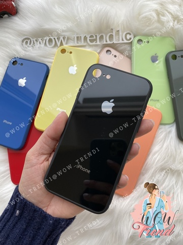 Чехол iPhone 7/8 Glass Pastel color Logo /black/