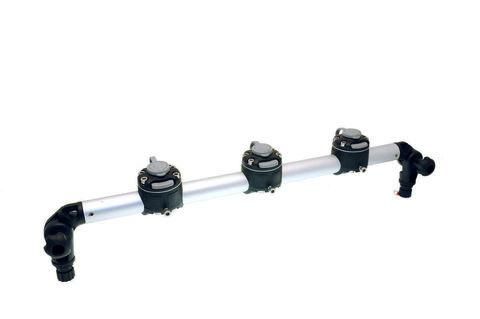 Тарга с тремя замками Gr610-3FMr232,  610 мм, черная