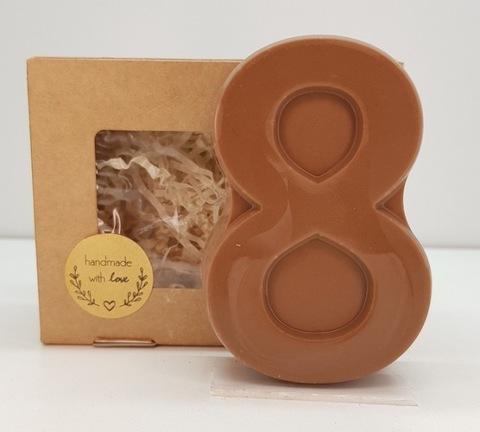 Пластиковая форма для шоколада жен. ВОСЬМЕРКА ПЛОСКАЯ 90х60мм
