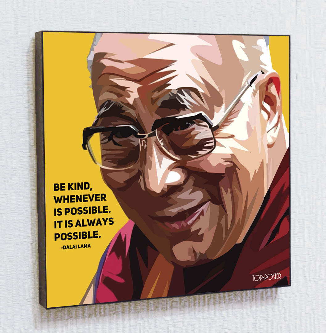 Далай-лама Картина ПОП-АРТ постер портрет