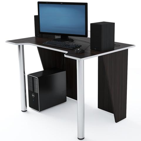 Стол Компьютерный LevelUP 1100 Венге/Белый