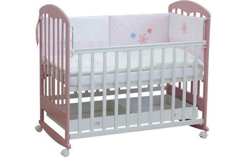Кровать детская Фея 325 белый-магнолия