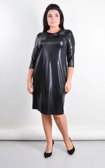Памела. Эффектное платье плюс сайз для особого случая. Черный.