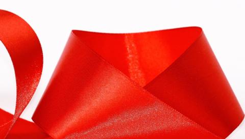 Лента атласная 40мм (23м), №26 цвет красный