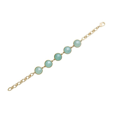 Классический браслет Pearl Blue Sky Agate C1362.21 BL/G