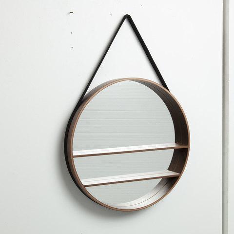 Зеркало Benton Ø58,5 ореховый шпон