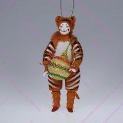 Ёлочная игрушка Тигренок с аксессуаром