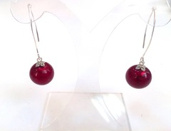 Серьги Perla Grazia красные (Rubino)
