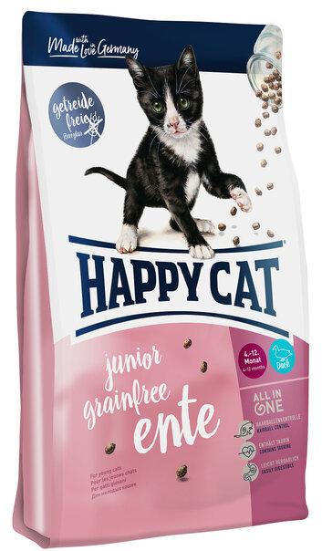купить Happy Cat Sensitive Junior Grainfree Ente сухой корм для котят с 4 до 12 месяцев с уткой