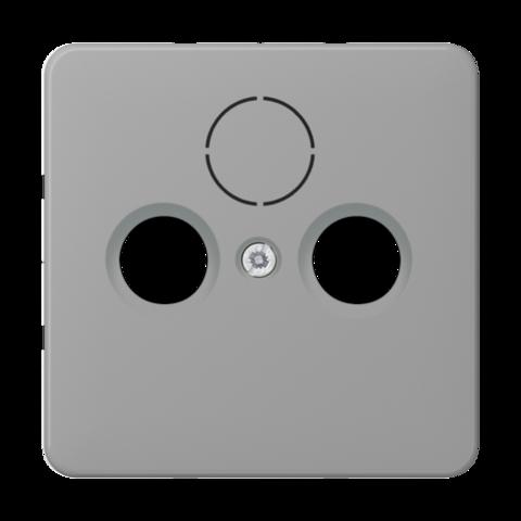 Накладка  двойная/тройная для антенных розеток. Цвет Серый. JUNG CD. CD561SATGR