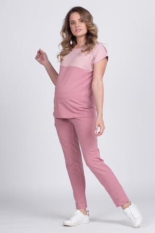 Спортивный костюм для беременных и кормящих 12738 пыльно-розовый