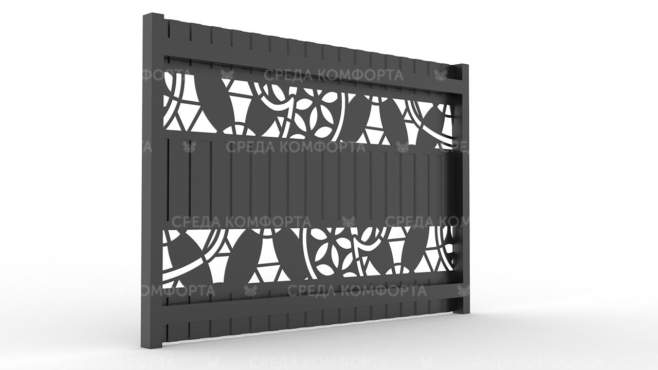 Забор из профлиста 2500х2000 мм ZBR0023 (столб для забора продается отдельно)