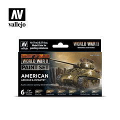 Model Color Set: WW II American Armour & Infantry (6)