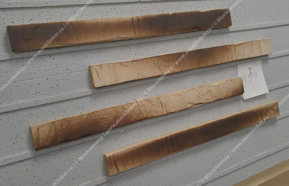 Stroeher - 451 gold-braun, Riegel 50, сверхдлинная, 490x40x14 - Клинкерная плитка для фасада и внутренней отделки