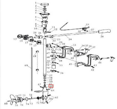 Корпус редуктора для лодочного мотора T3,5 Sea-PRO