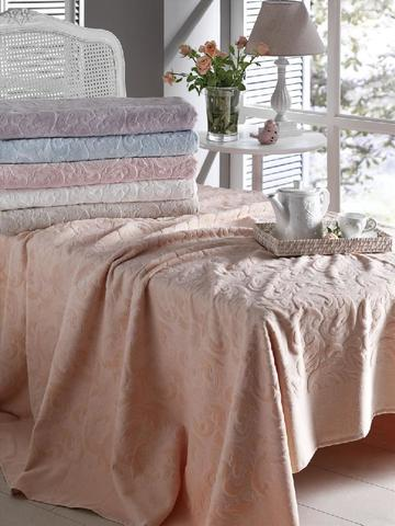 Покрывало махровое с постельным бельем Tivolyo Home BAROC 2 сп бордовый