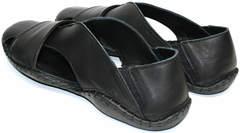 Сандалии мужские кожаные Luciano Bellini 801 Black.