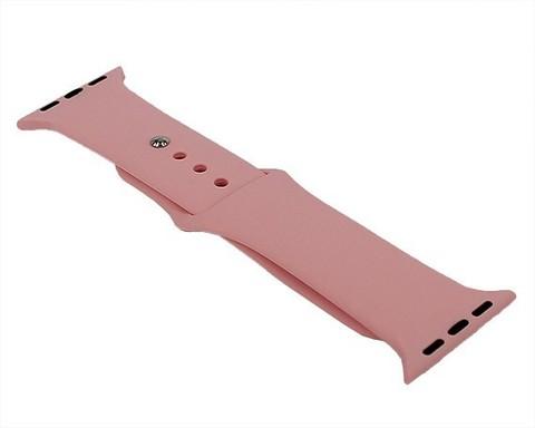Ремешок для Apple Watch 38mm/40mm силиконовый | нежно-розовый