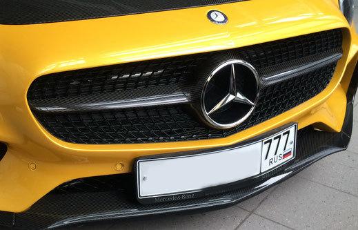Карбоновая решетка радиатора для Mercedes AMG-GTS