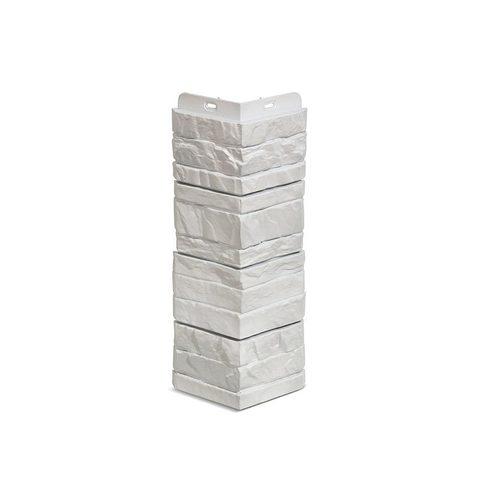 Угол наружный Деке Камень  400 х 185 мм Молочный