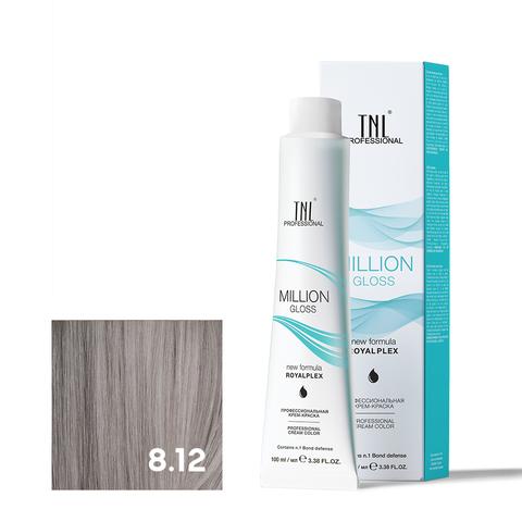 Крем-краска для волос TNL Million Gloss оттенок 8.12 Светлый блонд пепельный перламутровый 100 мл