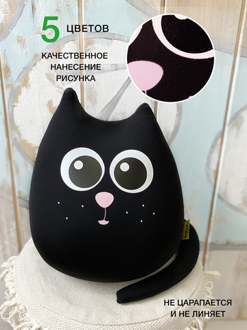 Подушка-игрушка «Кот Уголь»-2