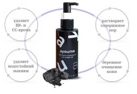 Гидрофильное масло для глубокого очищения пор Ayoume Pore Deep Cleansing Oil