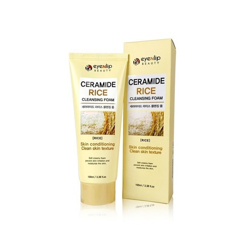 Eyenlip Ceramide Rice Cleansing Foam пенка для умывания с рисом и керамидами
