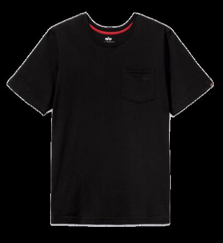 Футболка Alpha Industries Small Logo Pocket Tee Black (Черная)
