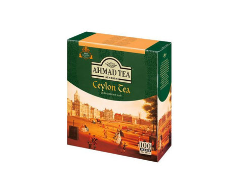 Чай черный в пакетиках Ahmad Ceylon Tea, 100 пак/уп