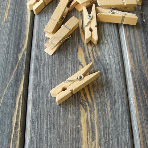 Прищепки деревянные декоративные - 10шт (30*4мм)