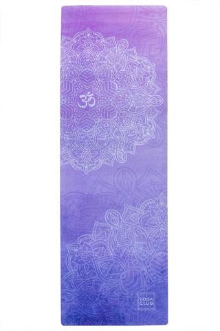 Коврик для йоги Ом 183*61*0,1-0,3 см из микрофибры и каучука