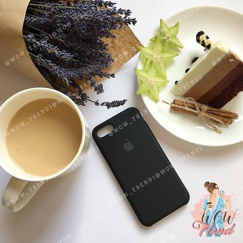 Чехол iPhone 7/8 Silicone Case /black/ черный original quality