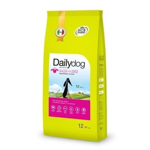 Сухой корм Dailydog Puppy All Breed Lamb and Rice для щенков с ягненком и рисом, 20 кг.