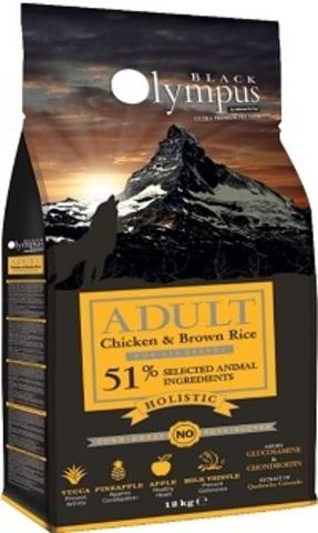 Black Olympus Adult Medium Chicken & Rice - Для собак средних пород, курица/коричневый рис 12 кг.